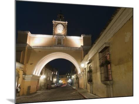 Santa Catalina Arch by Night, Antigua, UNESCO World Heritage Site, Guatemala, Central America-Sergio Pitamitz-Mounted Photographic Print