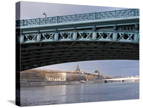 Pont De L'Universite, River Rhone, Lyon, Rhone Valley, France, Europe-Nico Tondini-Stretched Canvas Print