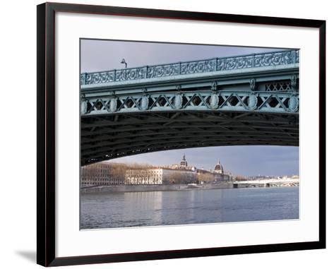 Pont De L'Universite, River Rhone, Lyon, Rhone Valley, France, Europe-Nico Tondini-Framed Art Print