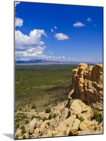 Escarpment and Lava Beds in El Malpais National Monument, New Mexico-Michael DeFreitas-Mounted Photographic Print