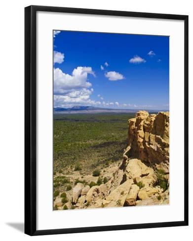 Escarpment and Lava Beds in El Malpais National Monument, New Mexico-Michael DeFreitas-Framed Art Print