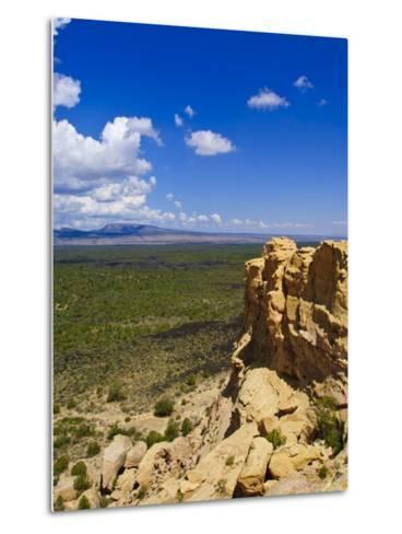 Escarpment and Lava Beds in El Malpais National Monument, New Mexico-Michael DeFreitas-Metal Print