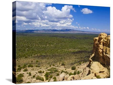 Escarpment and Lava Beds in El Malpais National Monument, New Mexico-Michael DeFreitas-Stretched Canvas Print