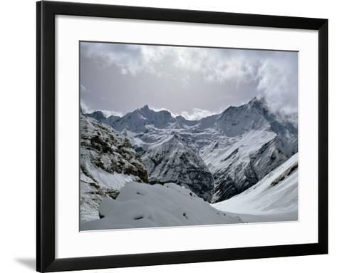 Machrapuchare from Annapurna Sanctuary, Nepal, Asia-Nigel Blythe-Framed Art Print