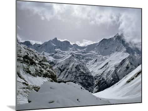 Machrapuchare from Annapurna Sanctuary, Nepal, Asia-Nigel Blythe-Mounted Photographic Print