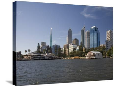 City Centre from the Swan River, Perth, Western Australia, Australia, Pacific-Nick Servian-Stretched Canvas Print