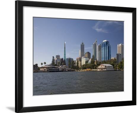 City Centre from the Swan River, Perth, Western Australia, Australia, Pacific-Nick Servian-Framed Art Print