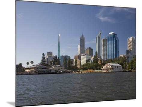 City Centre from the Swan River, Perth, Western Australia, Australia, Pacific-Nick Servian-Mounted Photographic Print