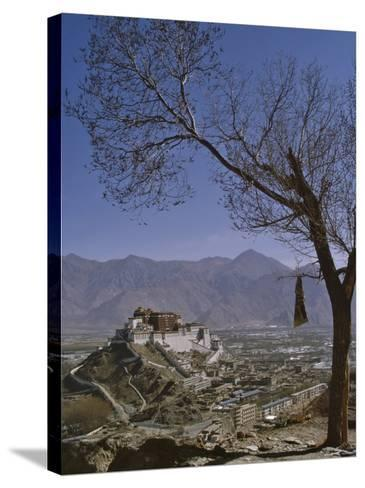 Potala Palace from Yuwang Shan Mountain, Lhasa, Tibet, China, Asia-Nigel Blythe-Stretched Canvas Print
