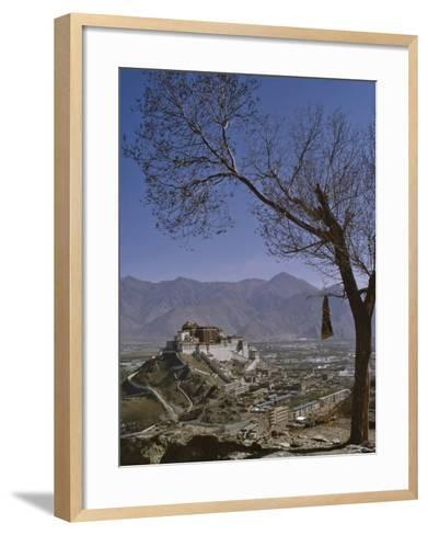 Potala Palace from Yuwang Shan Mountain, Lhasa, Tibet, China, Asia-Nigel Blythe-Framed Art Print