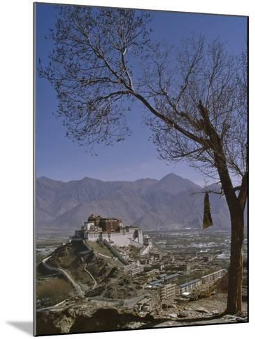 Potala Palace from Yuwang Shan Mountain, Lhasa, Tibet, China, Asia-Nigel Blythe-Mounted Photographic Print