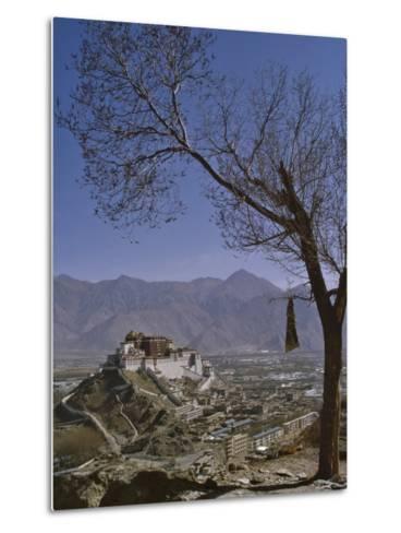 Potala Palace from Yuwang Shan Mountain, Lhasa, Tibet, China, Asia-Nigel Blythe-Metal Print