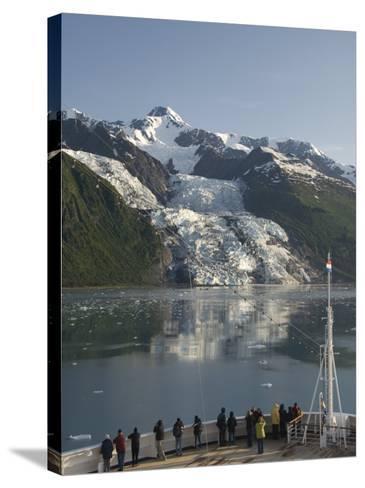 Passengers on Cruise Ship Viewing the Vasser Glacier, College Fjord, Inside Passage, Alaska-Richard Maschmeyer-Stretched Canvas Print