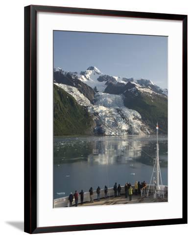 Passengers on Cruise Ship Viewing the Vasser Glacier, College Fjord, Inside Passage, Alaska-Richard Maschmeyer-Framed Art Print