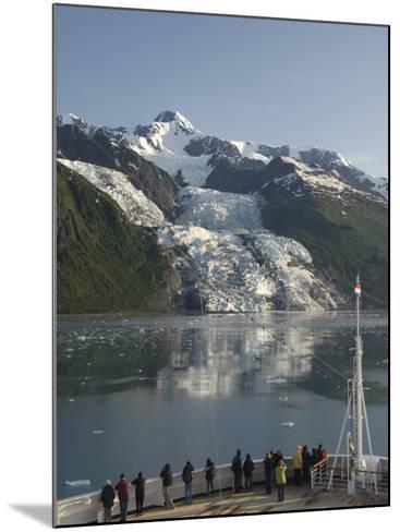 Passengers on Cruise Ship Viewing the Vasser Glacier, College Fjord, Inside Passage, Alaska-Richard Maschmeyer-Mounted Photographic Print