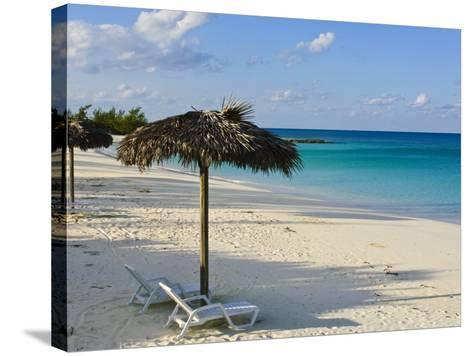 Beach, Cat Island, the Bahamas, West Indies, Central America-Michael DeFreitas-Stretched Canvas Print