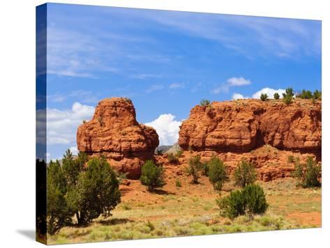 Sandstone Scenery around Jemez Springs, New Mexico, United States of America, North America-Michael DeFreitas-Stretched Canvas Print
