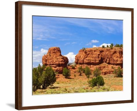 Sandstone Scenery around Jemez Springs, New Mexico, United States of America, North America-Michael DeFreitas-Framed Art Print