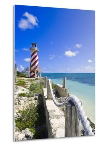 High Rock Lighthouse at High Rock, Grand Bahama, the Bahamas, West Indies, Central America-Michael DeFreitas-Metal Print