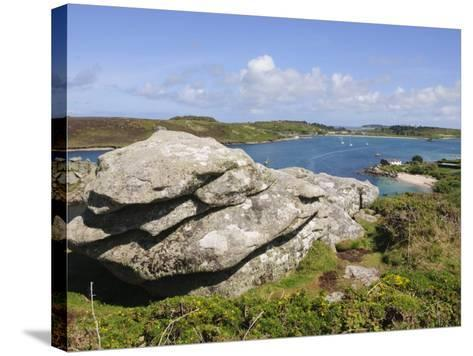Looking over Towards Tresco from Bryher, Isles of Scilly, Cornwall, United Kingdom, Europe-Robert Harding-Stretched Canvas Print