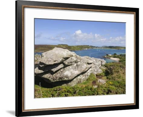 Looking over Towards Tresco from Bryher, Isles of Scilly, Cornwall, United Kingdom, Europe-Robert Harding-Framed Art Print