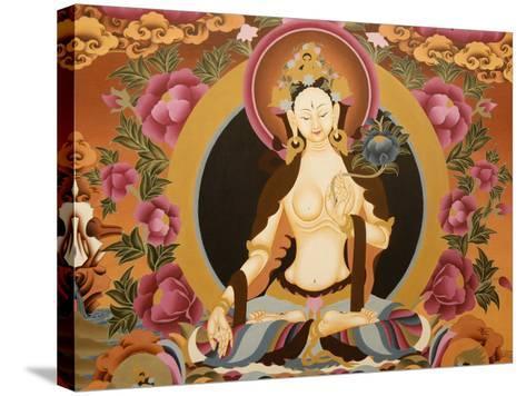 Thangka Depicting White Tara Goddess, Buddhist Symbol of Long Life, Bhaktapur, Nepal, Asia-Godong-Stretched Canvas Print