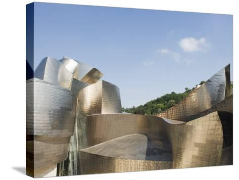 The Guggenheim, Designed by Canadian-American Architect Frank Gehry, Built by Ferrovial-Christian Kober-Stretched Canvas Print