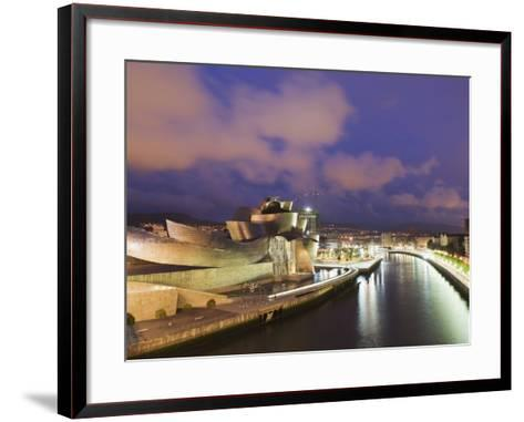 The Guggenheim, Designed by Canadian-American Architect Frank Gehry, on the Nervion River-Christian Kober-Framed Art Print