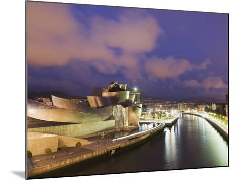 The Guggenheim, Designed by Canadian-American Architect Frank Gehry, on the Nervion River-Christian Kober-Mounted Photographic Print