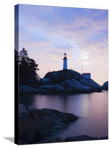 Point Atkinson Lighthouse, on the Strait of Georgia, Vancouver, British Columbia, Canada-Christian Kober-Stretched Canvas Print