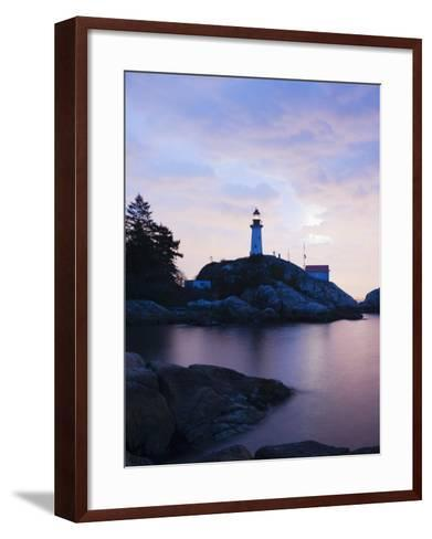 Point Atkinson Lighthouse, on the Strait of Georgia, Vancouver, British Columbia, Canada-Christian Kober-Framed Art Print