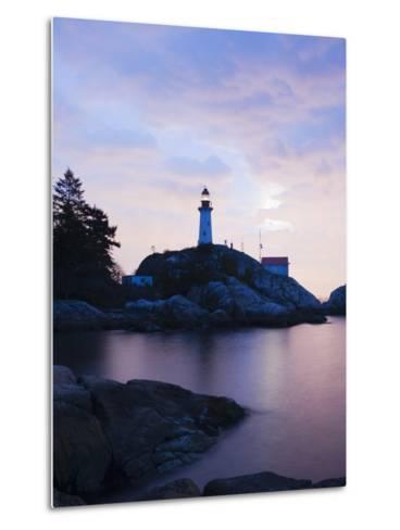 Point Atkinson Lighthouse, on the Strait of Georgia, Vancouver, British Columbia, Canada-Christian Kober-Metal Print