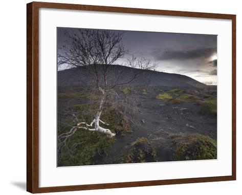 Desolate Black Ash Landscape at the Foot of Hverfjall Volcano, Myvatn, Northern Iceland-Patrick Dieudonne-Framed Art Print
