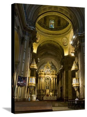 Metropolitan Cathedal, Plaza De Mayo, Buenos Aires, Argentina, South America-Robert Harding-Stretched Canvas Print