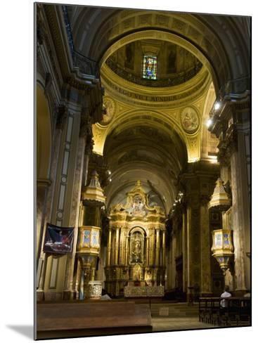 Metropolitan Cathedal, Plaza De Mayo, Buenos Aires, Argentina, South America-Robert Harding-Mounted Photographic Print