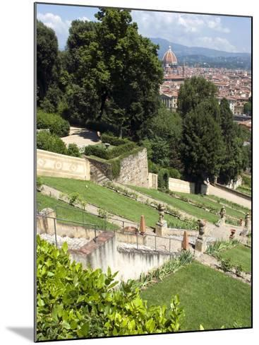 View Out over Florence from the Bardini Garden, the Bardini Garden, Florence, Tuscany-Nico Tondini-Mounted Photographic Print