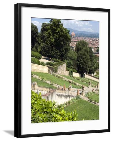 View Out over Florence from the Bardini Garden, the Bardini Garden, Florence, Tuscany-Nico Tondini-Framed Art Print