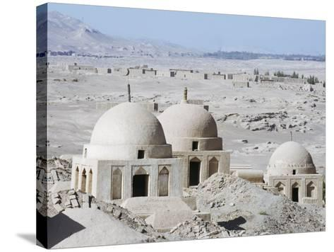 Ruined City of Jiaohe, Turpan on the Silk Route, Xinjiang Province-Christian Kober-Stretched Canvas Print