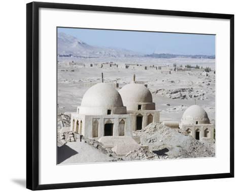 Ruined City of Jiaohe, Turpan on the Silk Route, Xinjiang Province-Christian Kober-Framed Art Print