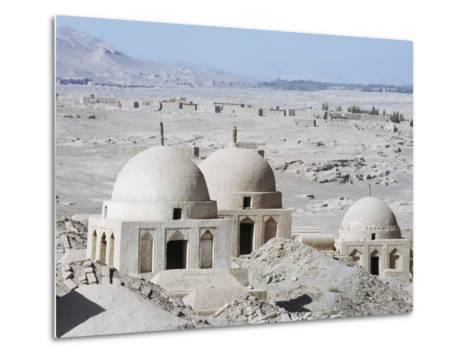 Ruined City of Jiaohe, Turpan on the Silk Route, Xinjiang Province-Christian Kober-Metal Print