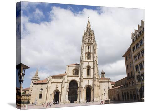 San Salvador Cathedral, on Plaza De Alfonso El Casto, Oviedo, Asturias, Spain, Europe-Christian Kober-Stretched Canvas Print