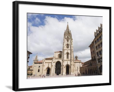 San Salvador Cathedral, on Plaza De Alfonso El Casto, Oviedo, Asturias, Spain, Europe-Christian Kober-Framed Art Print