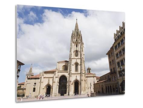 San Salvador Cathedral, on Plaza De Alfonso El Casto, Oviedo, Asturias, Spain, Europe-Christian Kober-Metal Print