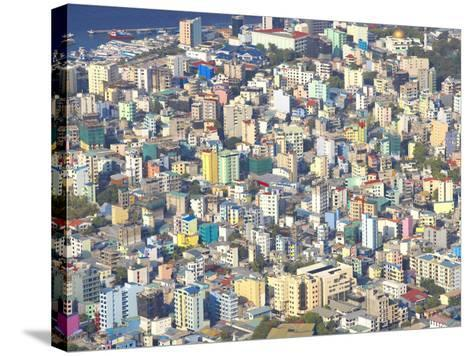 Aerial View of Male, Maldives, Indian Ocean, Asia-Sakis Papadopoulos-Stretched Canvas Print