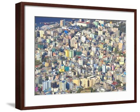Aerial View of Male, Maldives, Indian Ocean, Asia-Sakis Papadopoulos-Framed Art Print