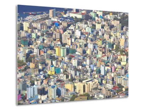 Aerial View of Male, Maldives, Indian Ocean, Asia-Sakis Papadopoulos-Metal Print