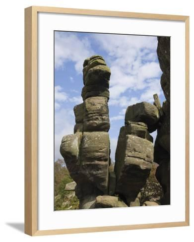 Brimham Rocks, Brimham Moor, Near Ripon, North Yorkshire, England, United Kingdom, Europe-James Emmerson-Framed Art Print