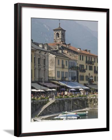 Promenade Cafes by the Old Harbour, Cannobio, Lago Maggiore, Switzerland, Europe-James Emmerson-Framed Art Print