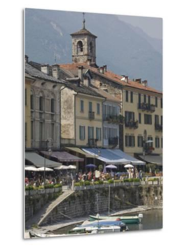 Promenade Cafes by the Old Harbour, Cannobio, Lago Maggiore, Switzerland, Europe-James Emmerson-Metal Print