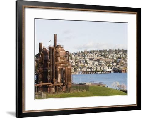 Gas Works Park, Lake Union, Seattle, Washington State, United States of America, North America-Christian Kober-Framed Art Print